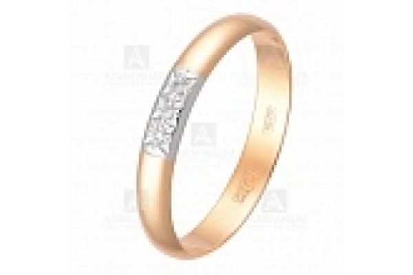 кольцо обручальное с бриллиантом  1043333