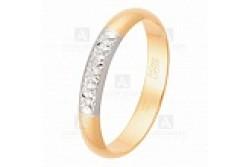 кольцо обручальное с бриллиантом  1043335
