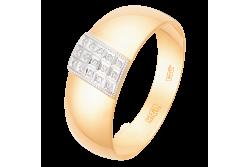 кольцо обручальное с бриллиантом  1047415