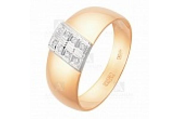 кольцо обручальное с бриллиантом  1047418