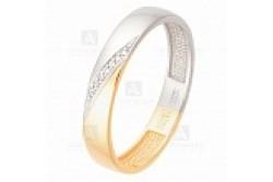 кольцо обручальное с бриллиантом  1049112