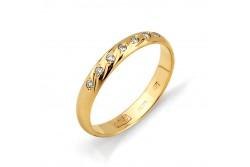 кольцо обручальное с бриллиантом  1313-100