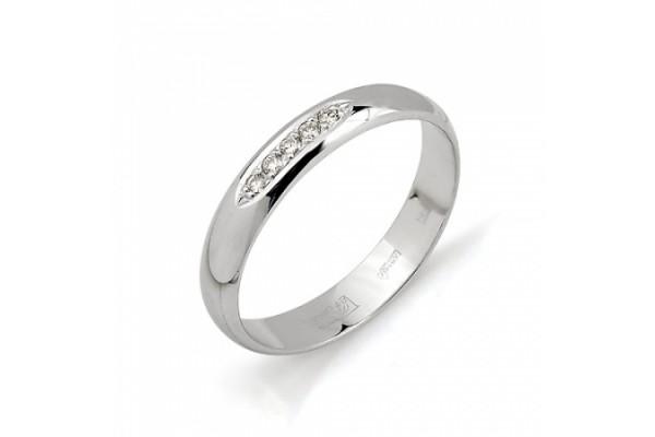 кольцо обручальное с бриллиантом1323-200