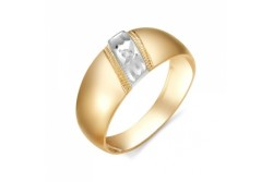 кольцо обручальное с бриллиантом  1331-100
