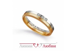 кольцо обручальное с бриллиантом  Л22101104
