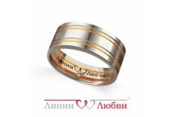 кольцо обручальное с бриллиантом  Л25501065