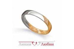 кольцо обручальное с бриллиантом  Л41161152