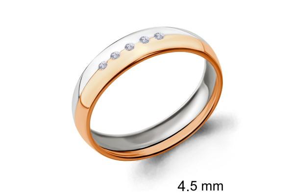 кольцо обручальное с бриллиантом  961331к