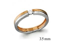 кольцо обручальное с бриллиантом  961516к