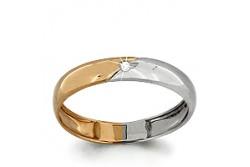 кольцо обручальное с бриллиантом  961685к